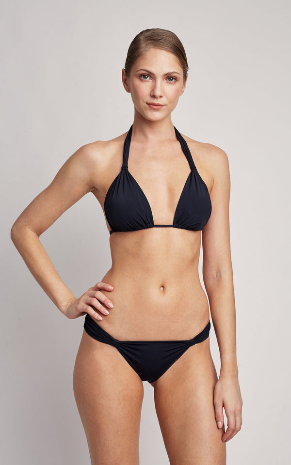 LENNY NIEMEYER BLACK BIKINI ADJUSTABLE PADDED TOP AND ADJUSTABLE BOTTOM