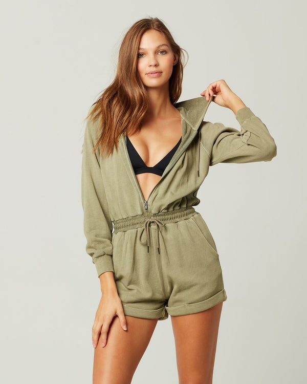LSpace Washed Army Stay Cool Romper