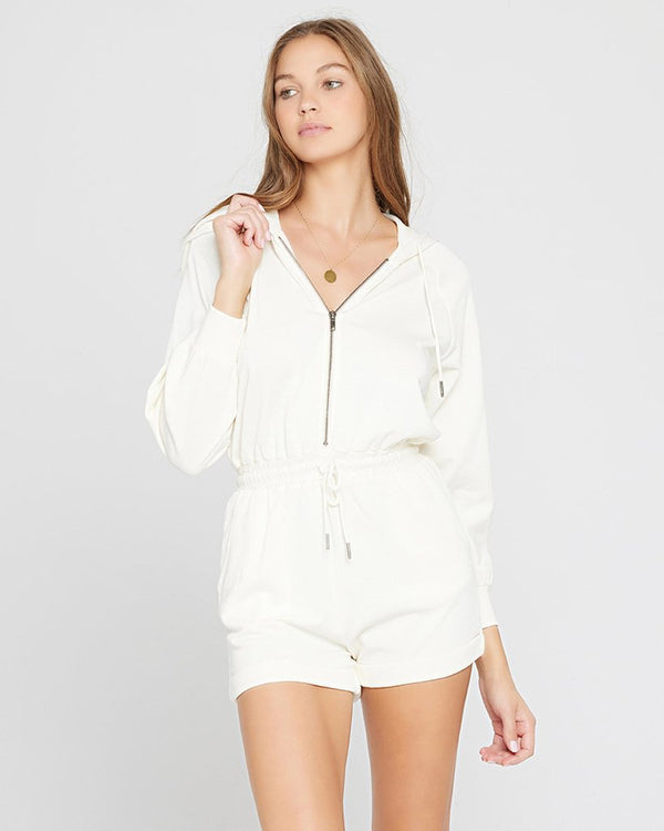 LSpace White Stay Cool Romper