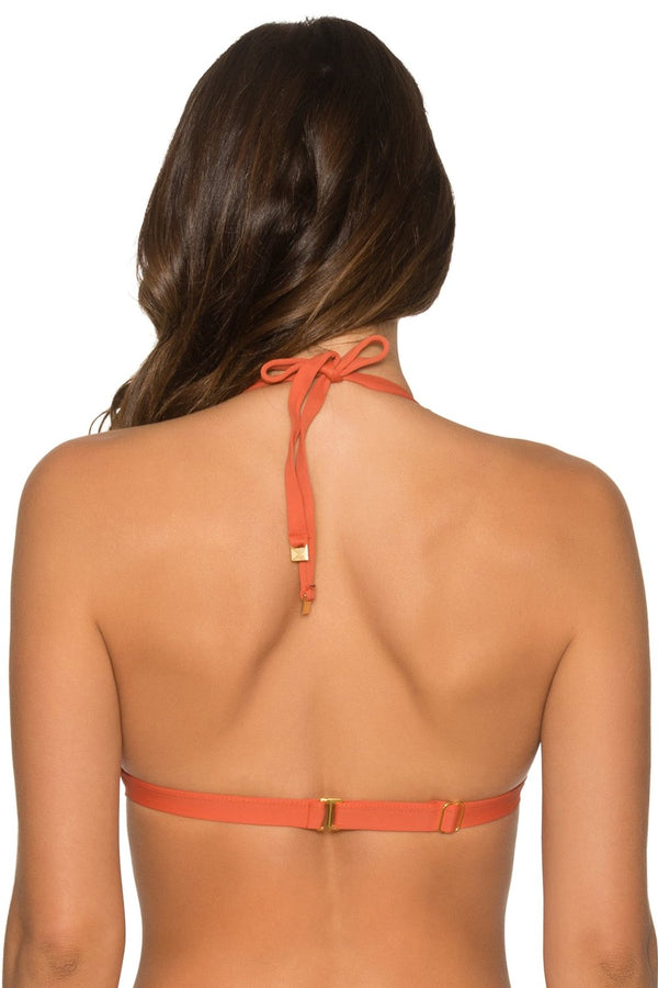 Aerin Rose Orange Laterite Vist Tri Top