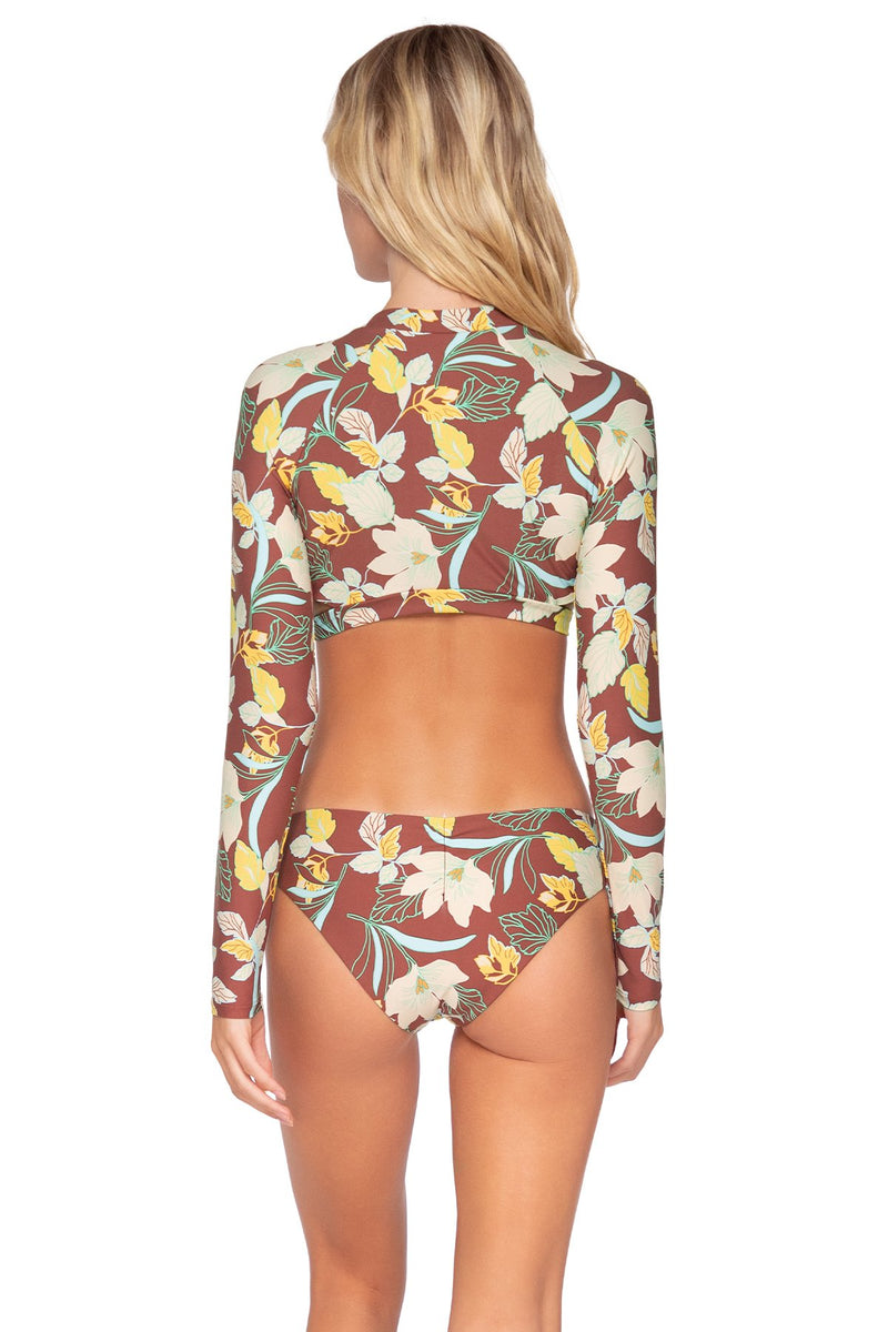 SWIM SYSTEMS DESERT BLOOMS REBEL CROP TOP
