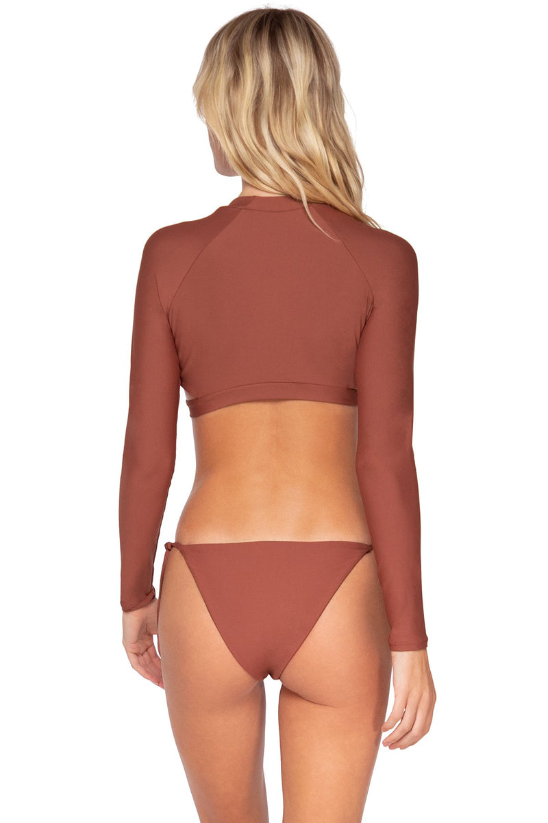 SWIM SYSTEMS CANYON CLAY REBEL CROP TOP