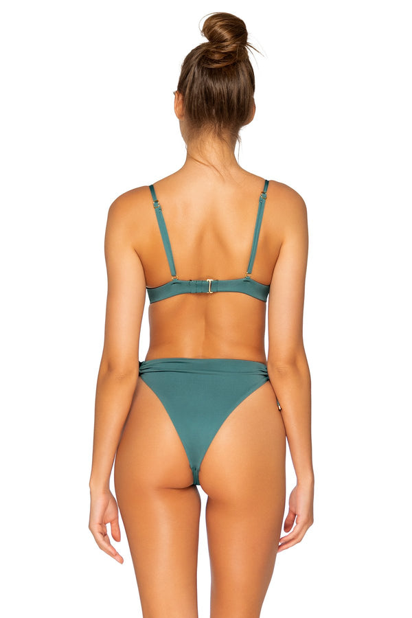 B Swim Dark Sage Mykonos Hi-Waist Bottom