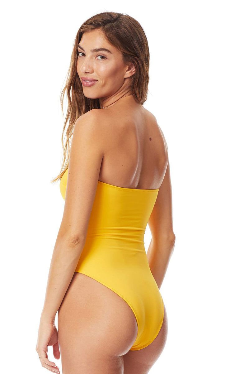 Tori Praver Sungold Rhodes High Leg One Piece