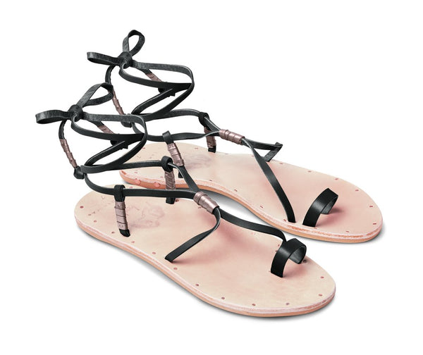 Vitamin A Black/Natural Bluebird Sandal