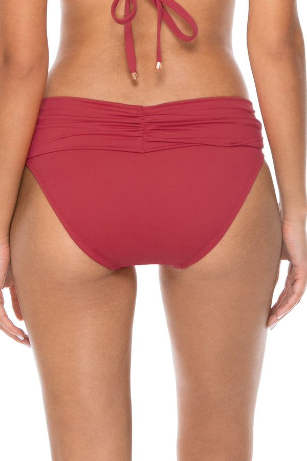 Swim Systems Red Rose Aloha Banded Bottom