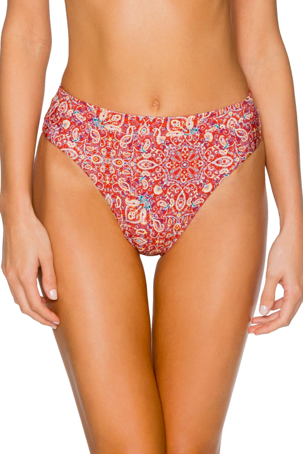 Swim Systems Turkish Twist Soleil High Waist Bottom
