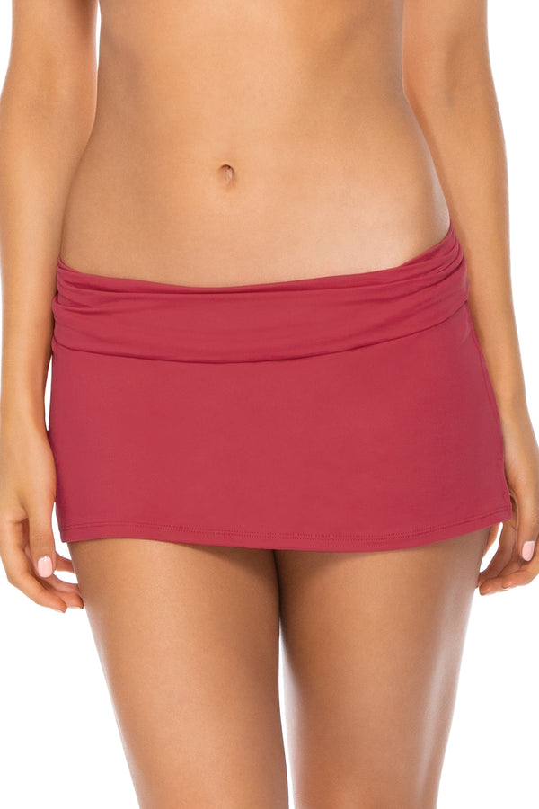 Swim Systems Red Rose Aloha Swim Skirt Bottom