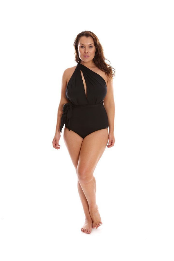 Capriosca It's All About Black Wrap 6 Ways One Piece