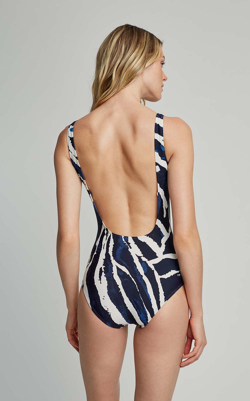 LENNY NIEMEYER ARAGUAIA CLASSIC EMBELLISHED TOUCH ONE PIECE SWIMSUIT (SUSTAINABLE COLLECTION)