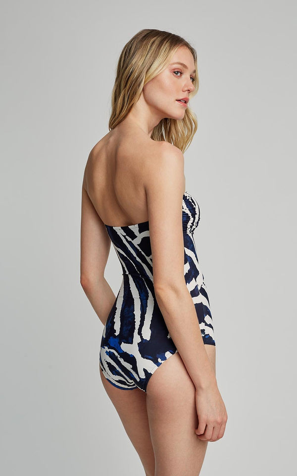 LENNY NIEMEYER ARAGUAIA DROP BANDEAU ONE-PIECE SWIMSUIT (SUSTAINABLE COLLECTION)