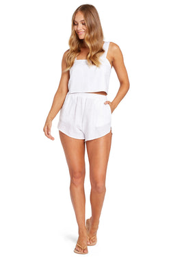 Vitamin A White EcoLinen Tallows Short