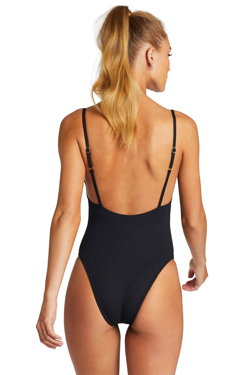 Vitamin A Black EcoRib™ Bedette One Piece