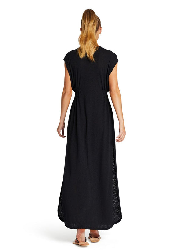 Vitamin A Black EcoCotton™ Florence Dress