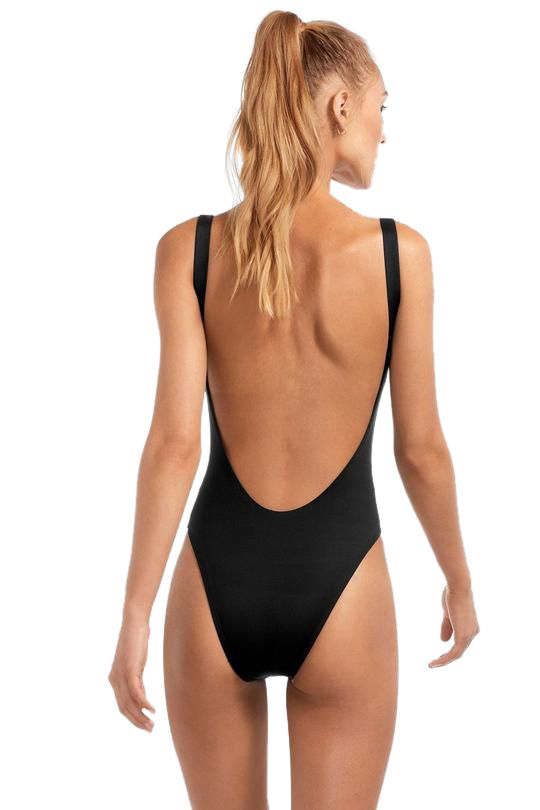 Vitamin A Black EcoLux™ Leah One Piece