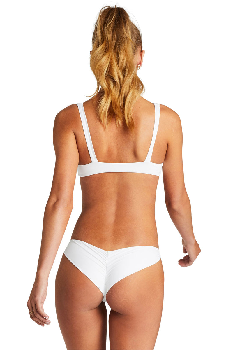 Vitamin A White Ecolux™ Samba Ruched Back Bottom
