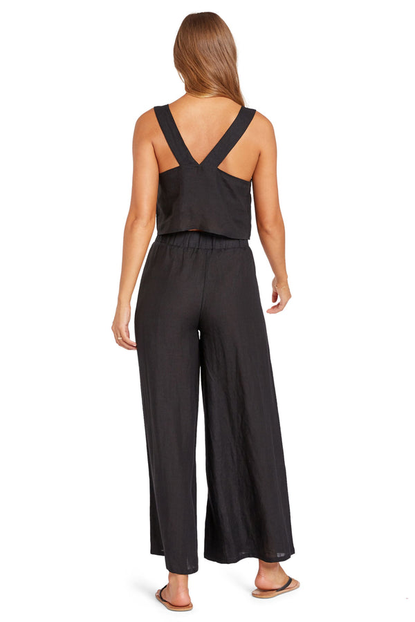 Vitamin A Black EcoLinen Tallows Wide Leg Pant