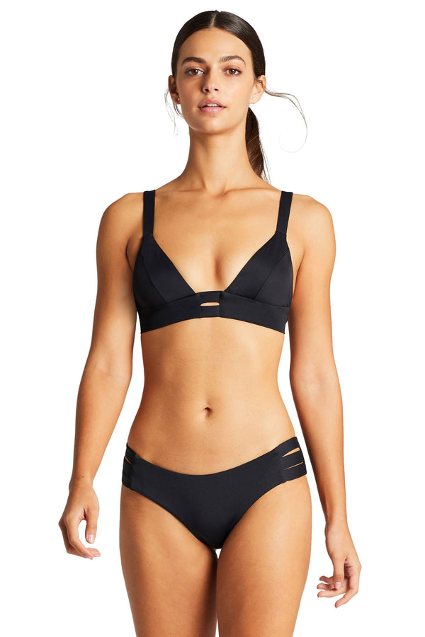Vitamin A Black EcoLux™ Emelia Triple Strap Bottom