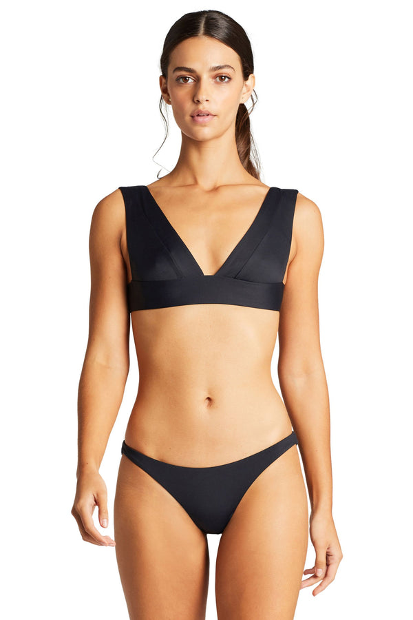 Vitamin A Black EcoLux™ Samba Ruched Back Bottom