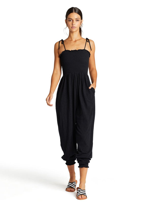 Vitamin A Black EcoCotton™ Moonlight Jumpsuit