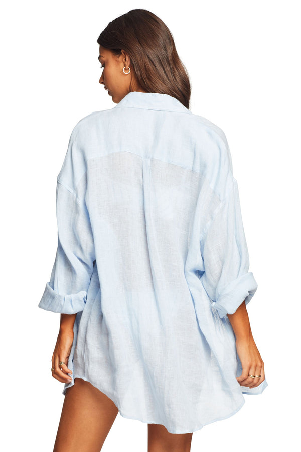 Vitamin A Celeste EcoLinen™ Playa Shirt Dress