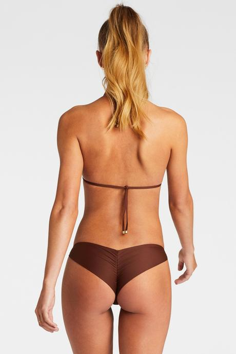 Vitamin A Vintage Brown Ecolux Samba Ruched Back Bottom