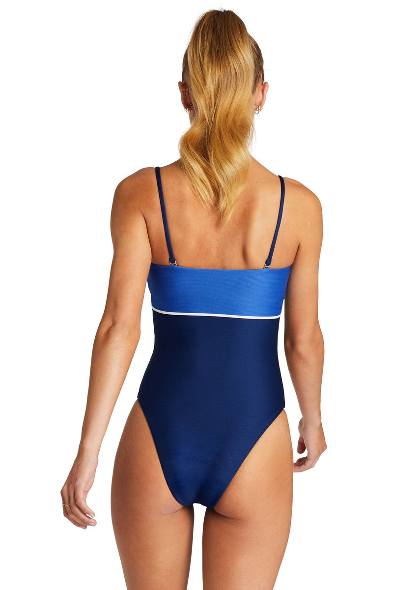 Vitamin A Blu Bar Stripe Marilyn Bodysuit One Piece