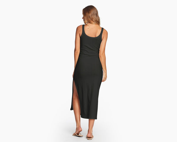 Vitamin A Black Organic Rib West Dress