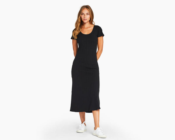 Vitamin A Black Organic Rib Catalina Tee Dress