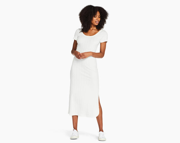 Vitamin A White Organic Rib Catalina Tee Dress