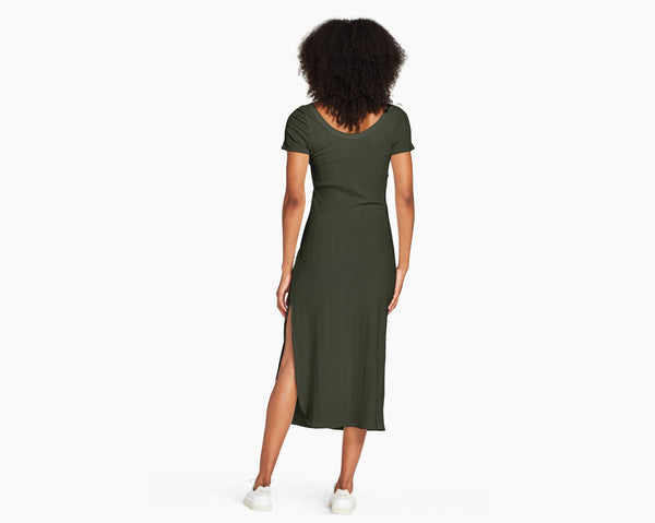 Vitamin A  Forest Organic Rib Catalina Tee Dress