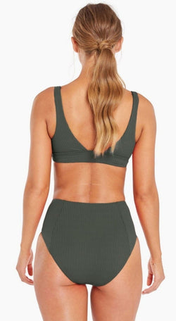 Vitamin A Forest EcoRib™ Sienna High Waist Full Bottom