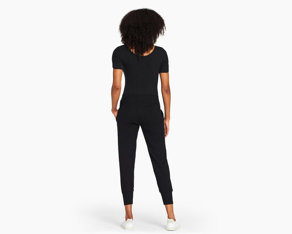 Vitamin A Black Organic Rib West Bodysuit