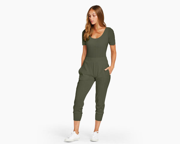 Vitamin A Forest Organic Rib West Pant