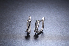 Load image into Gallery viewer, Black Spinel Earrings