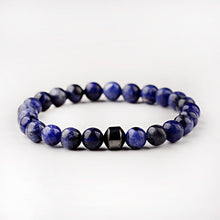 Load image into Gallery viewer, Hematite and Stone Yoga Bracelet