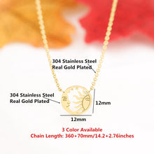 Load image into Gallery viewer, Sun Moon and Stars Necklace