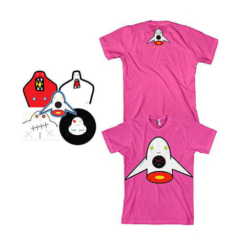 Rocket Boy T-shirt - Girls & Sticker Pack Bundle