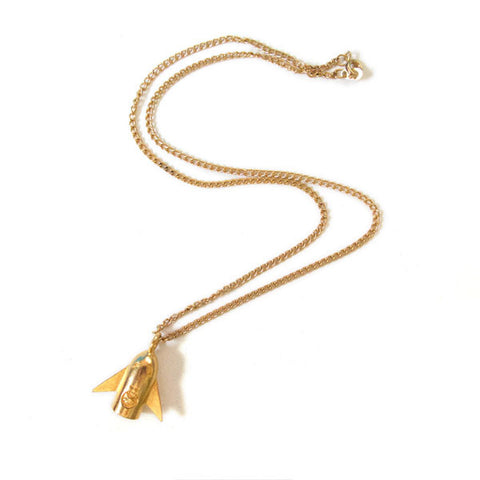 Rocket Boy Gold Necklace