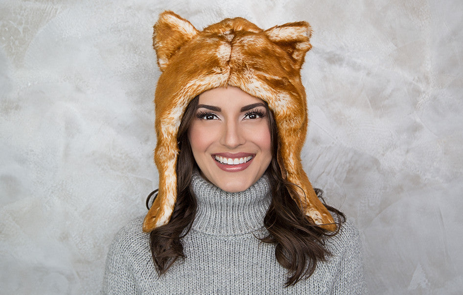 Red Fox Faux Fur Hat