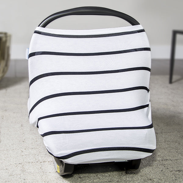 Black Stripes Car Seat Canopy
