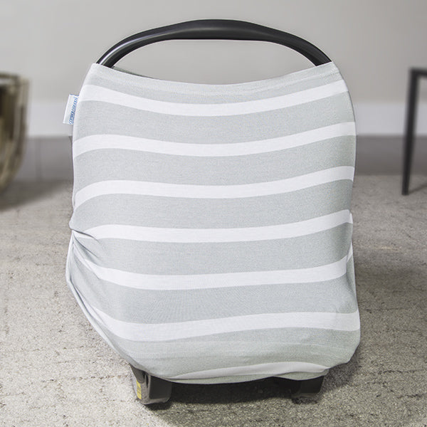 Gray Stripes Car Seat Canopy