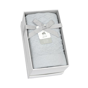 Just Born® Sparkle Grey Sweater Knit Blanket