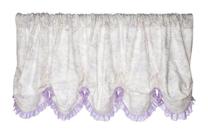 Glenna Jean Penelope Window Valance - Lavender/White- Limited to 1 per customer