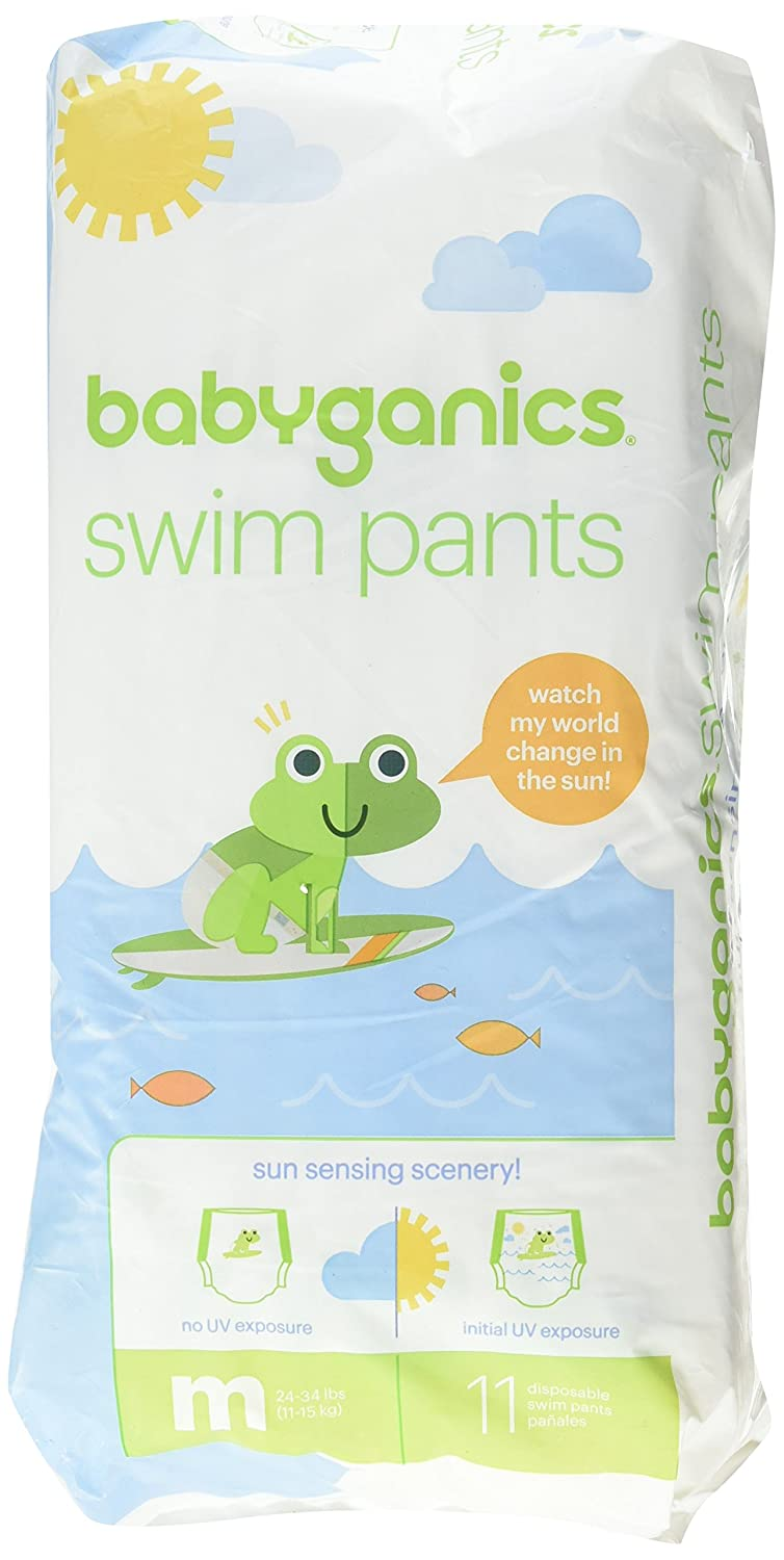 Babyganics Color Changing Disposable Swim Diaper (Medium) 11-Pack