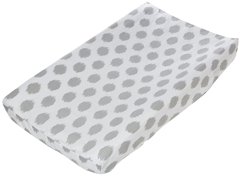 Sweet Potato Swizzle Changing Pad Cover - Pink/Grey/White