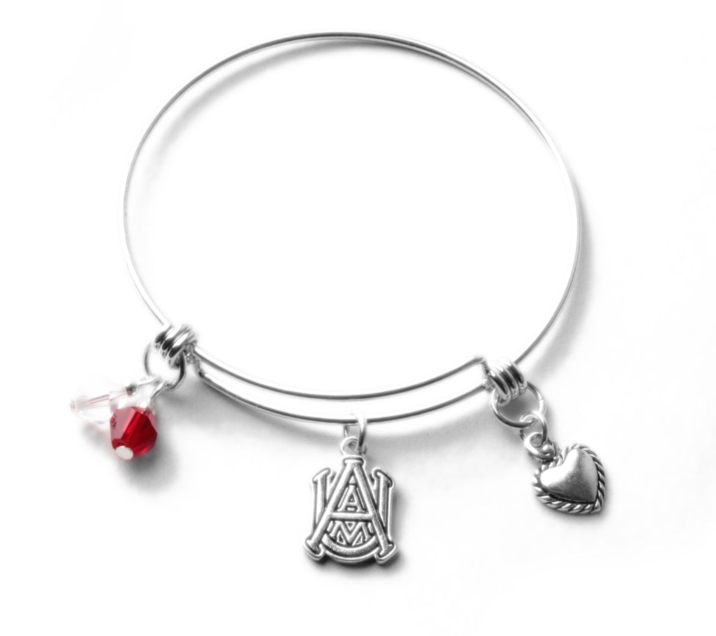 Alabama A&M Bulldogs Bangle Bracelet