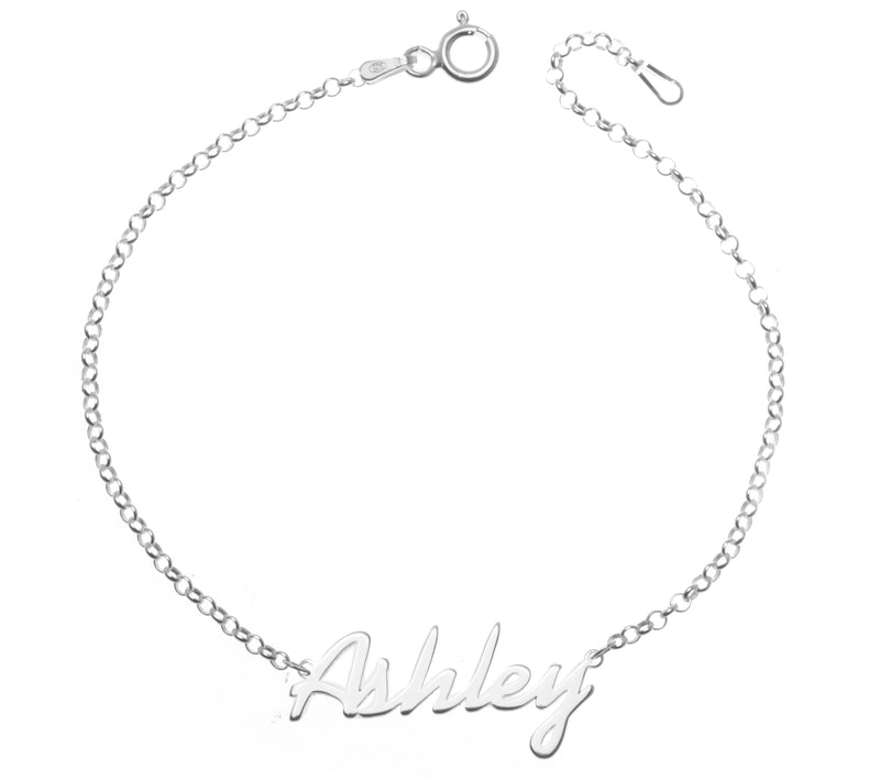 .925 Silver Personalized Name Bracelet