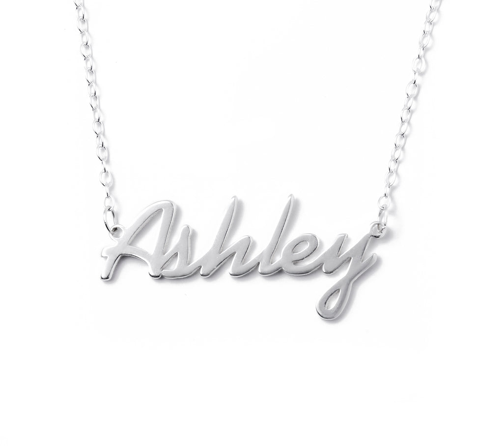 .925 Silver Custom Name Necklace