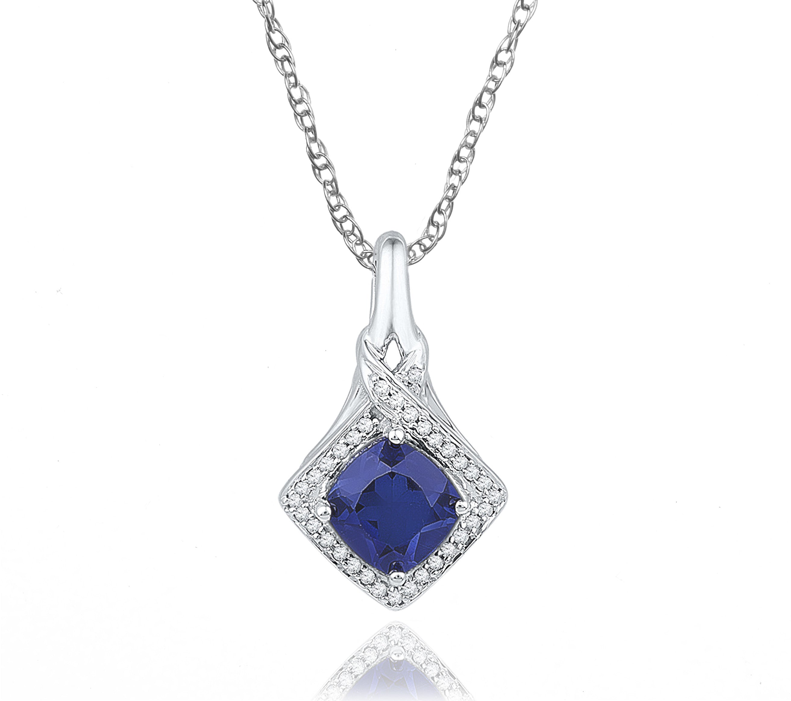 gold miadora created cobalt products online cushion square uk shop necklace blue sapphire necklac